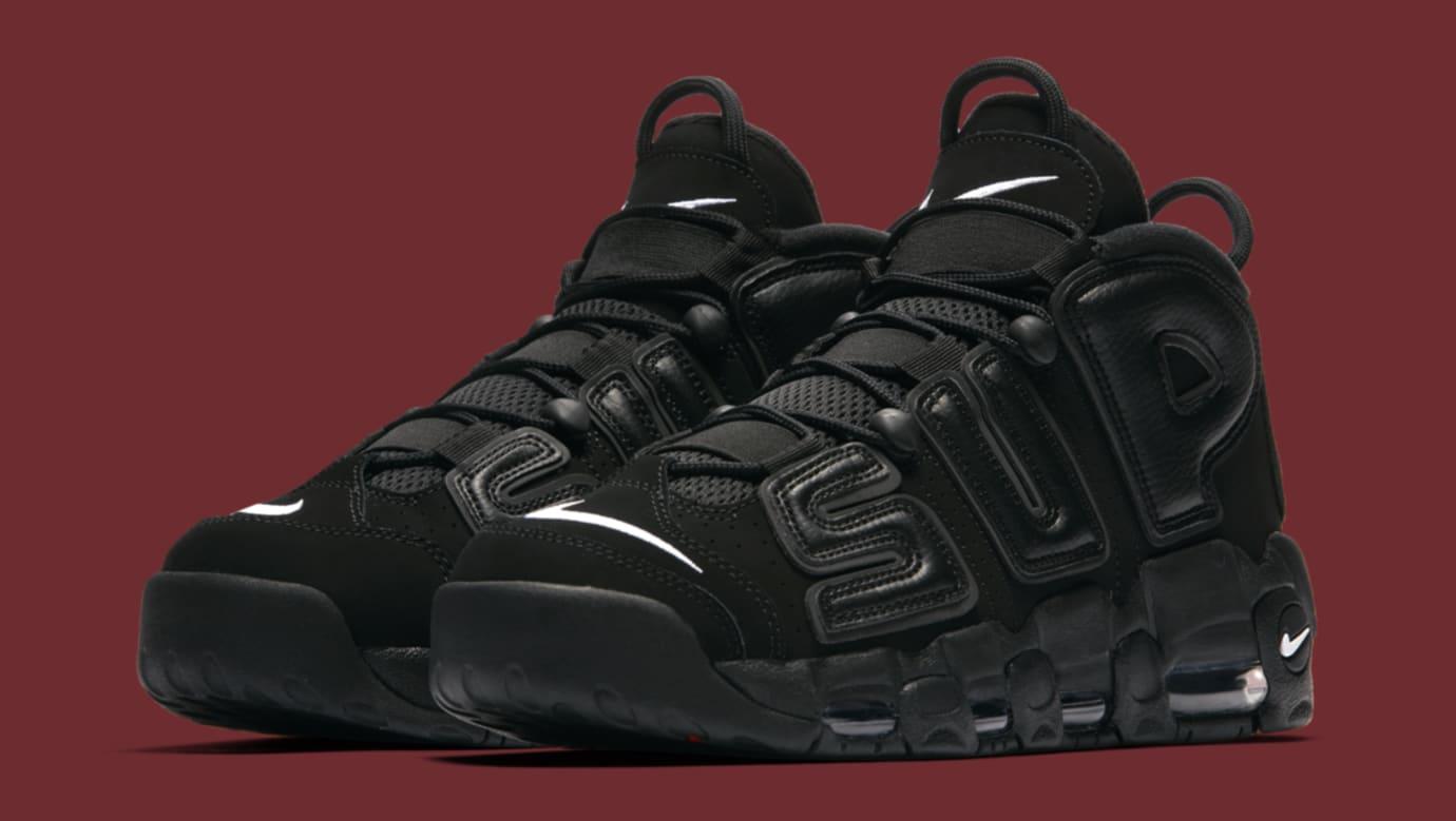 Black Supreme Nike Air More Uptempo 902290-001