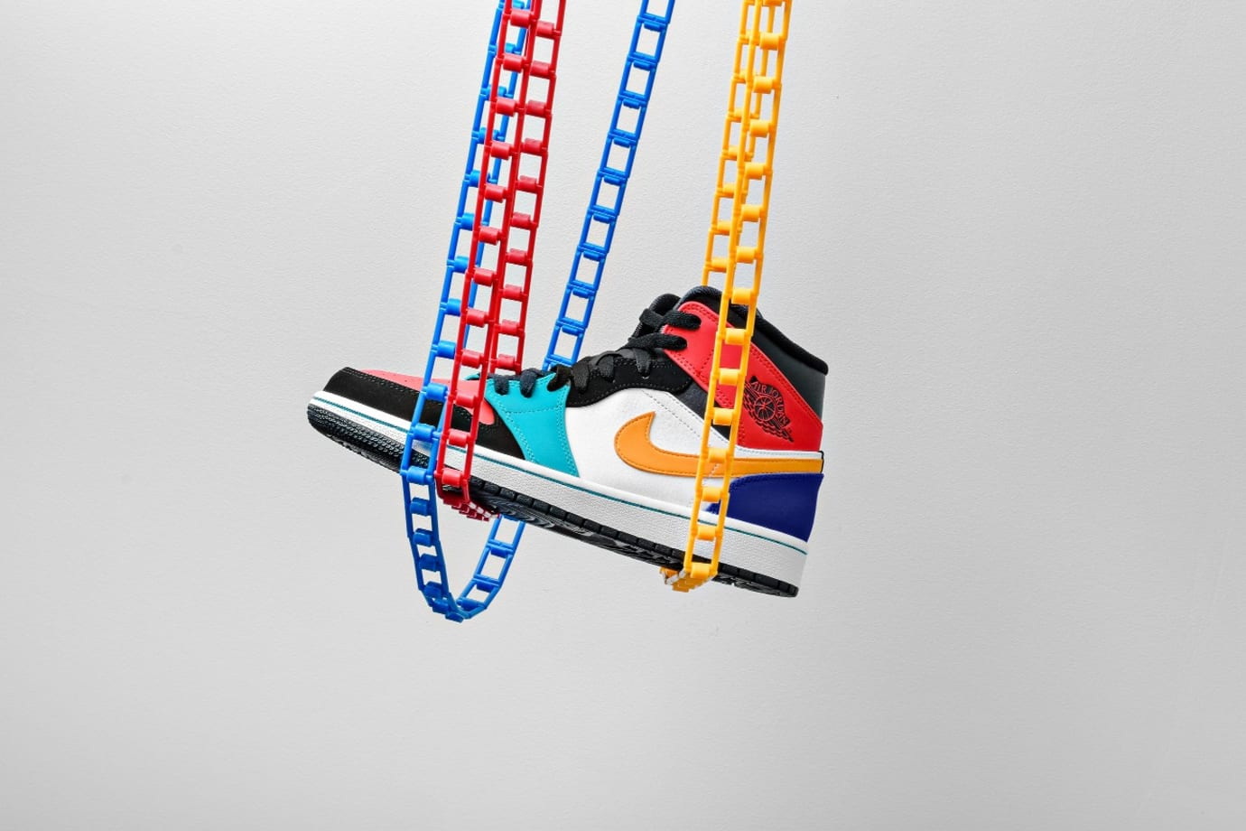 Air Jordan 1 Mid 'Multicolor' 554724-125 (Lateral)