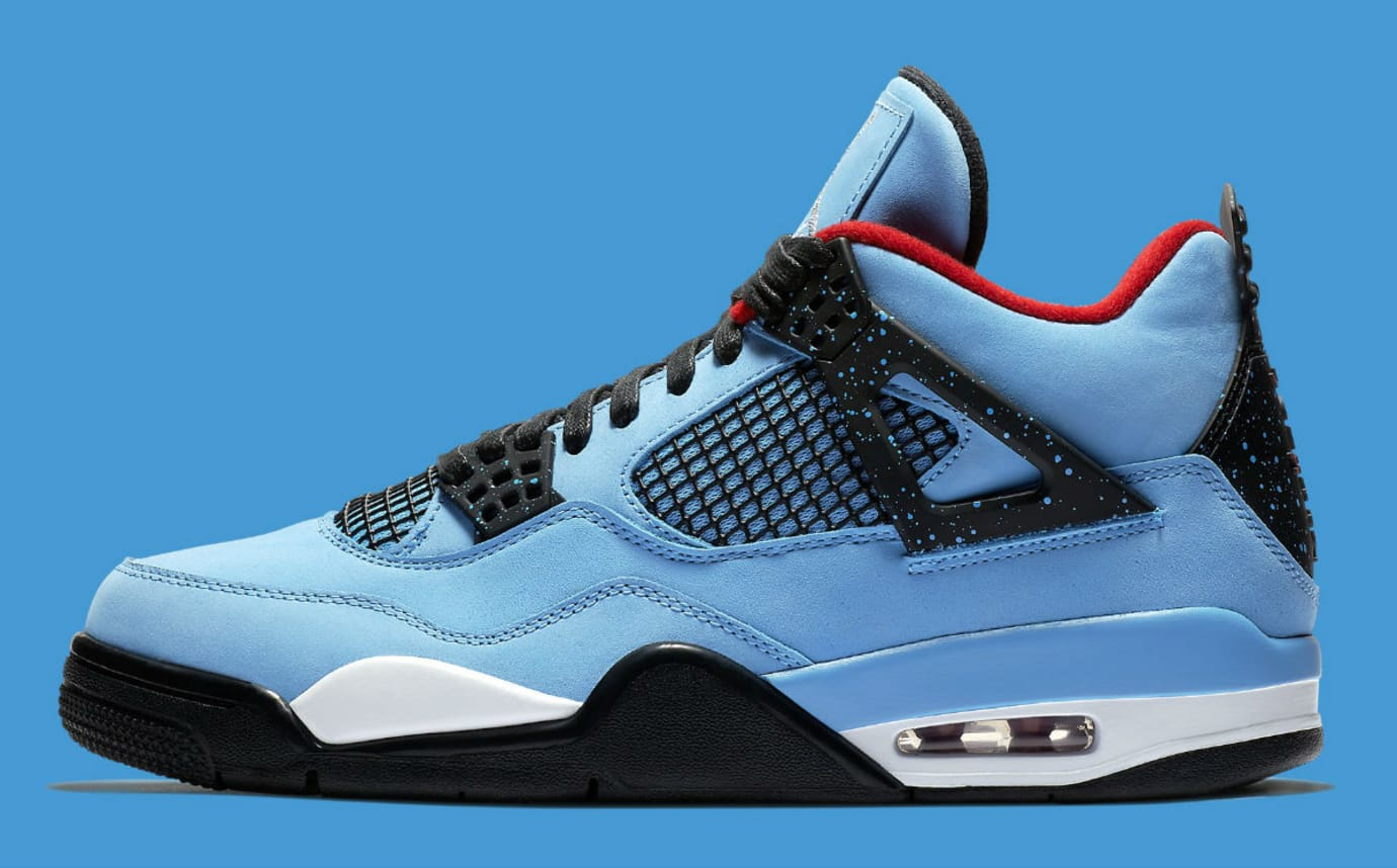 Travis Scott x Air Jordan 4 IV Oilers Release Date 308497-406 Profile