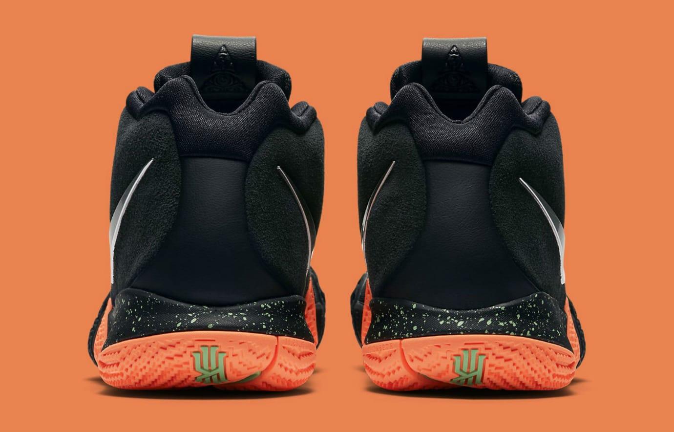 6d6f7efbbf8 Nike Kyrie 4 Black Silver-Orange Release Date 943806-010 Heel