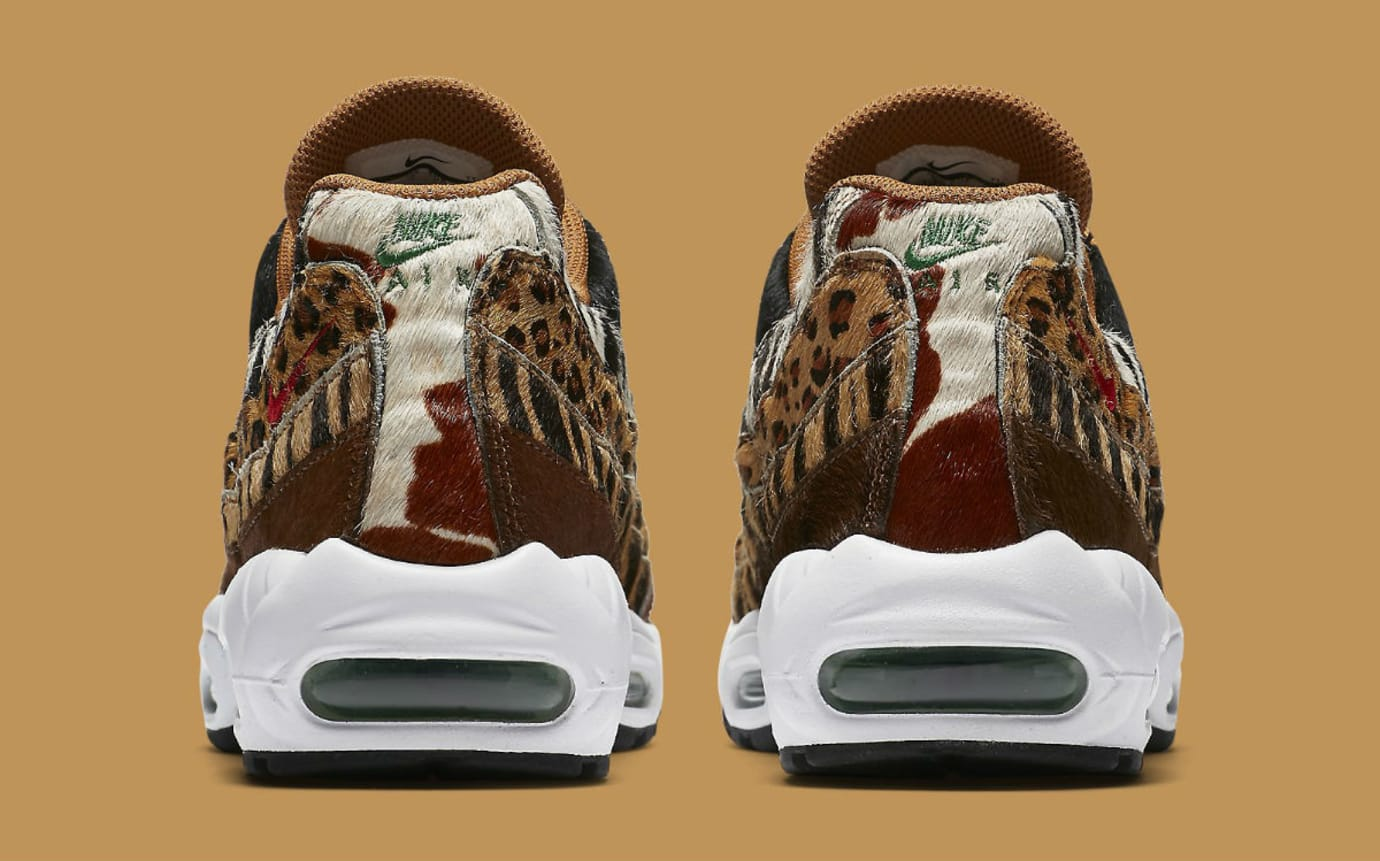 Atmos x Nike Air Max 95 Animal Pack Release Date AQ0929-200 Heel