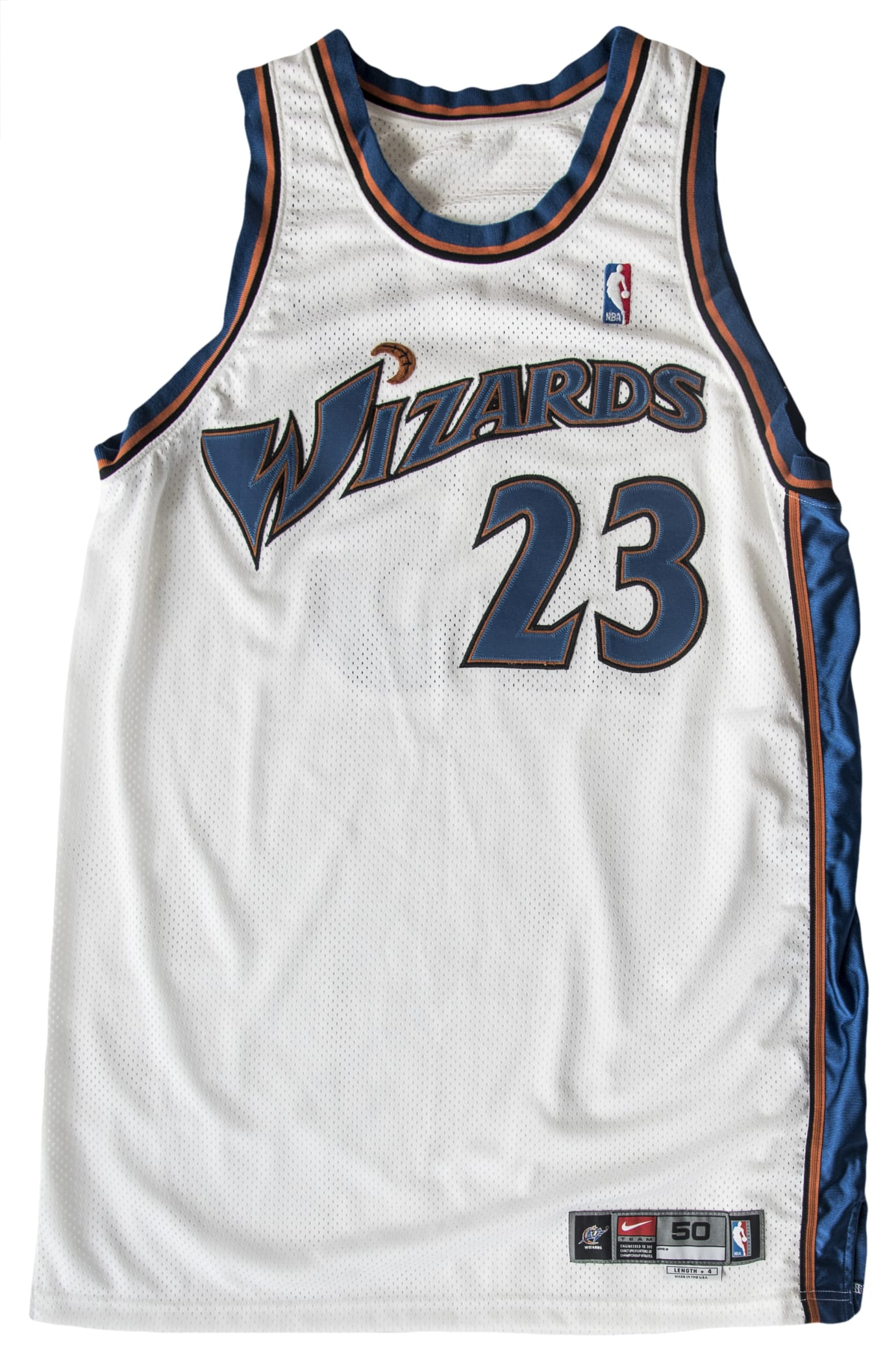 detailed look 10a6c 5efdf Why Someone Paid $50,000 for Michael Jordan's Wizards Jersey ...