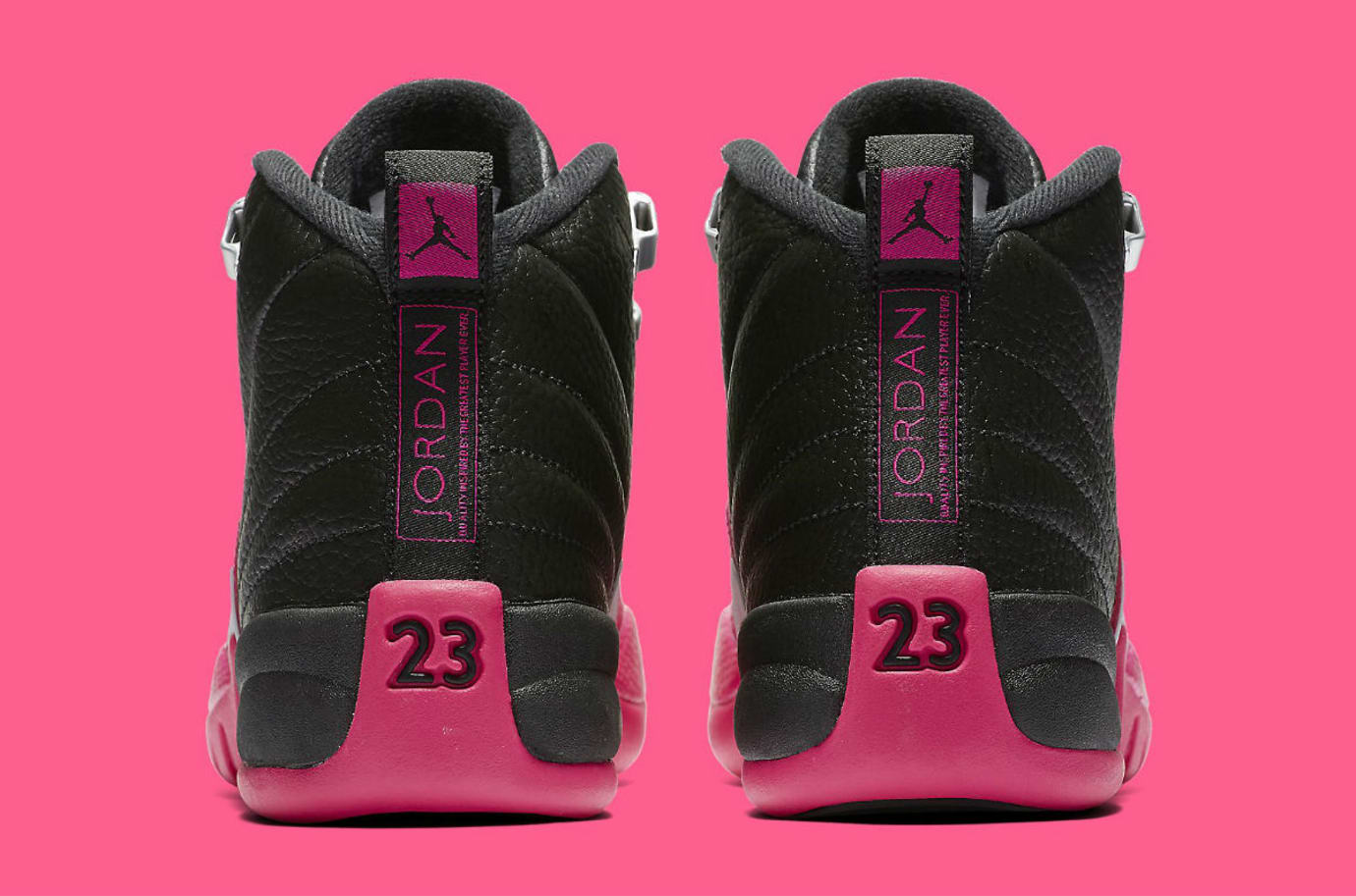 timeless design 19aa8 2701e Air Jordan 12 Deadly Pink Release Date Heel 510815-026