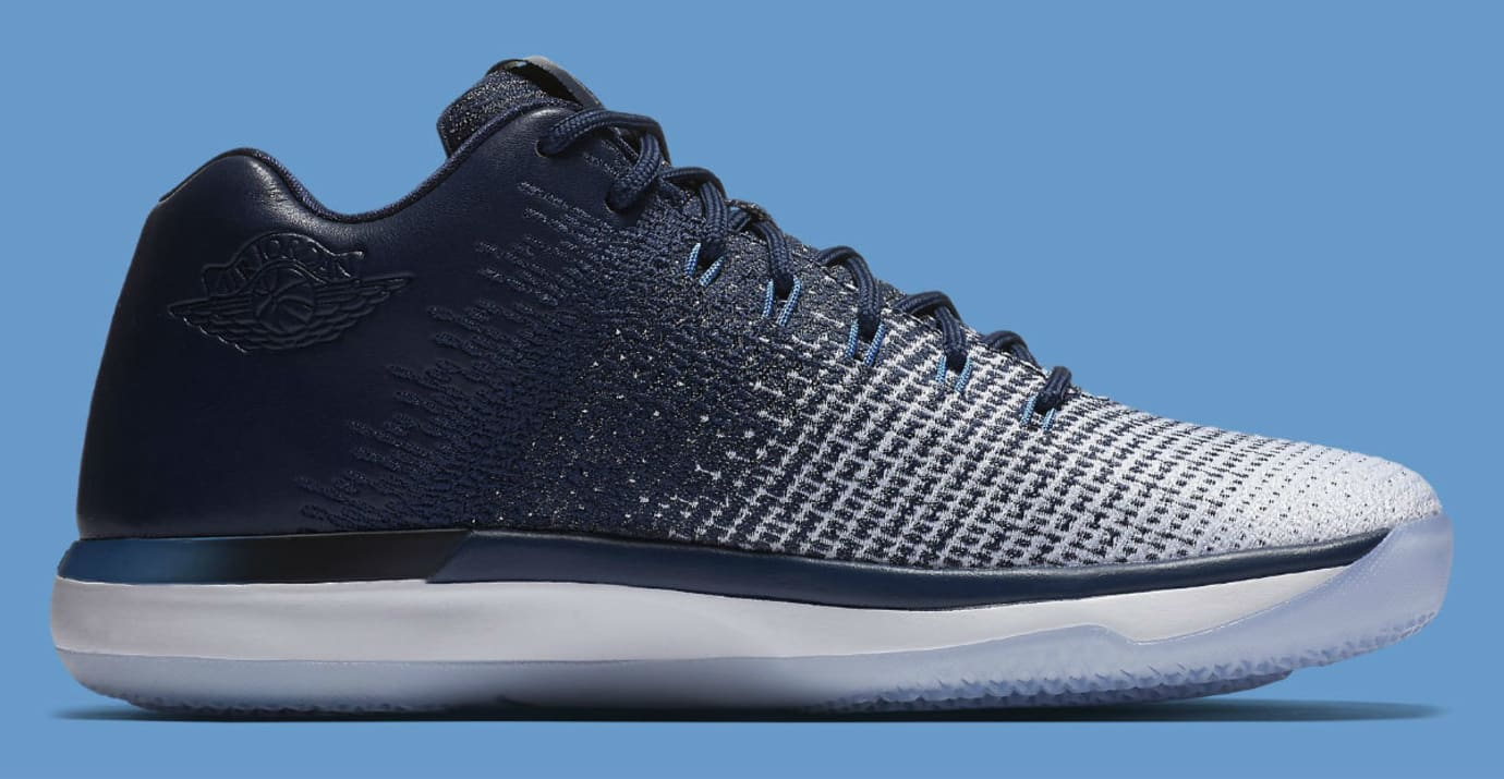 719b5e0512d7f7 ... clearance air jordan 31 low unc navy release date medial 897564 400  99fa2 3a719