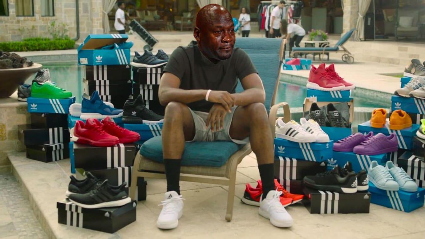 Crying Jordan Adidas