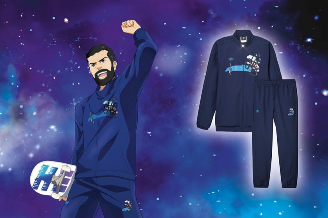 Helas x Adidas Skateboarding Anime Collection Release Date Tracksuit