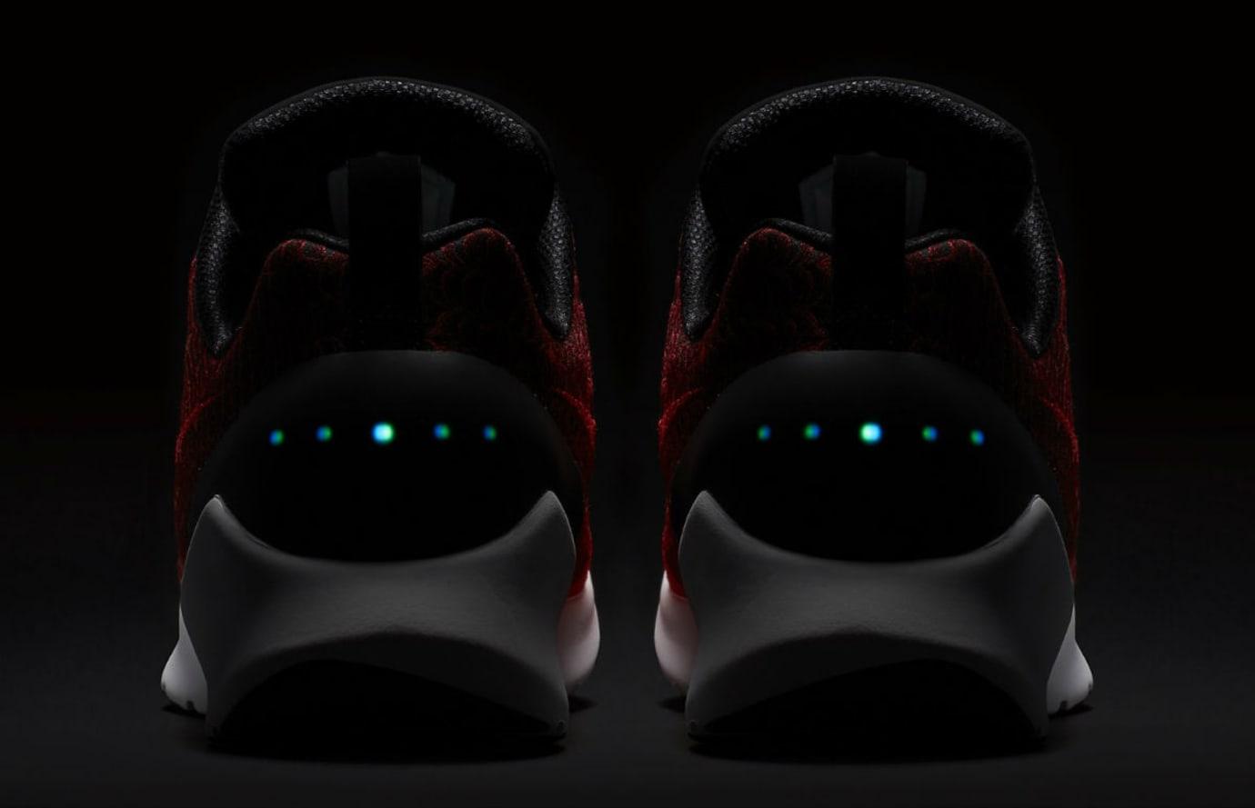 Nike HyperAdapt 1.0 Habanero Red Release Date 843871-600 Heel Dark