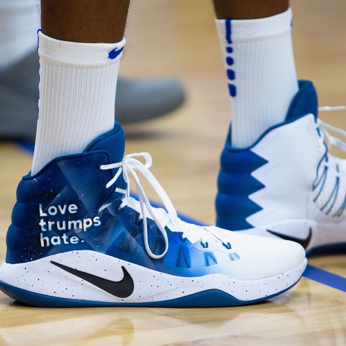 Karl Towns Love Trumps Hate Nike Hyperdunk Profile