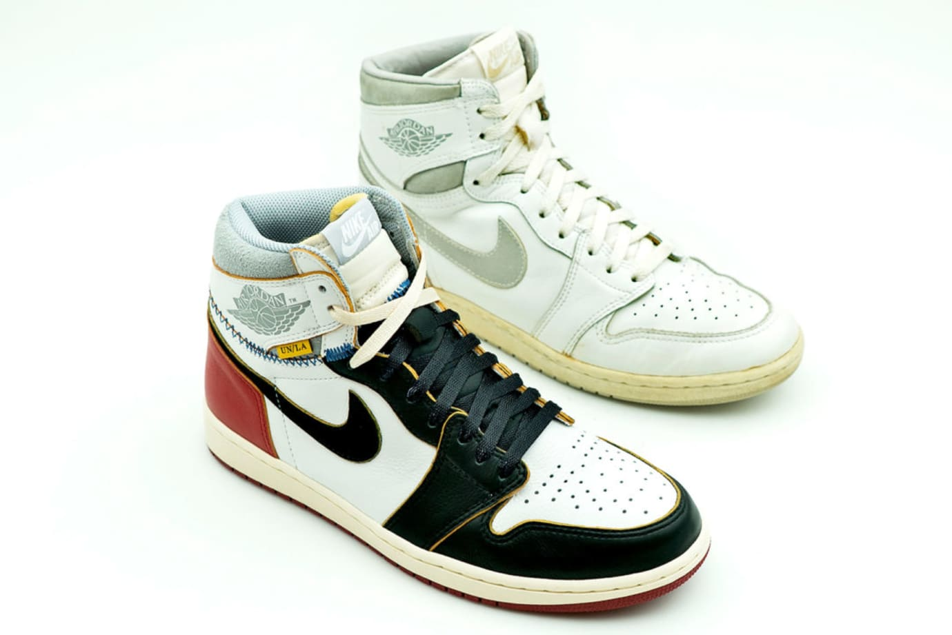 Union x Air Jordan 1 Comparison (vs. 'White/Natural Grey' Lateral)