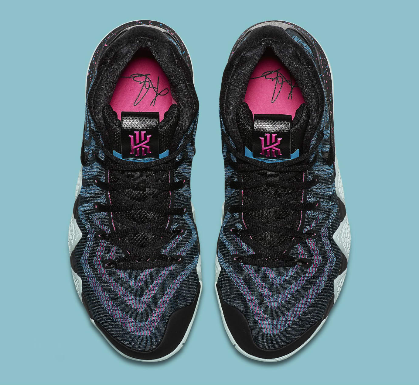 d51e22426d41 Image via Nike Nike Kyrie 4 Black Laser Fuchsia Release Date 943807-007 Top