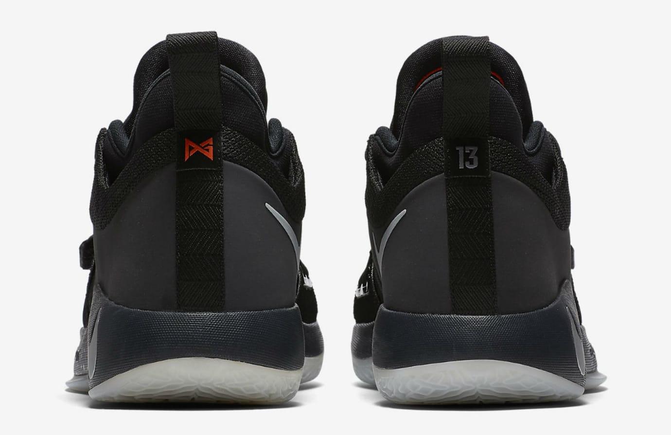 Nike PG 2.5 Black Pure Platinum Anthracite Release Date BQ8453-004 Heel