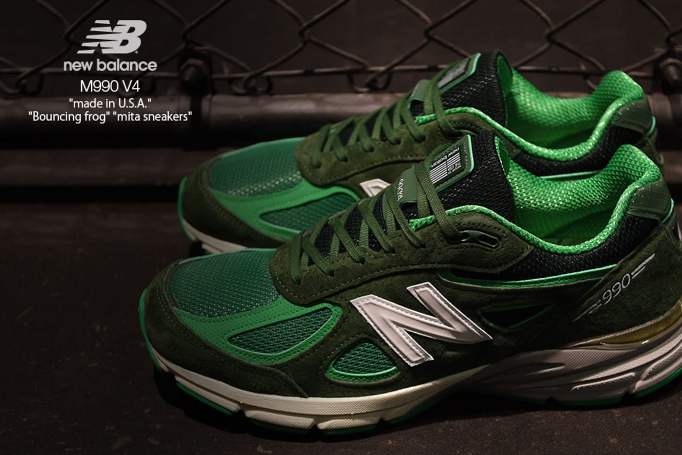 competitive price 453ff 46e69 Mita Sneakers x New Balance 990 v4 'Bouncing Frog' Release ...