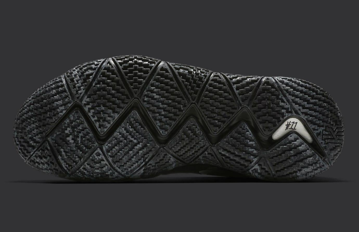 purchase cheap 86230 3c255 Image via Nike Nike Kyrie 4 Triple Black Release date 943807-008 Sole