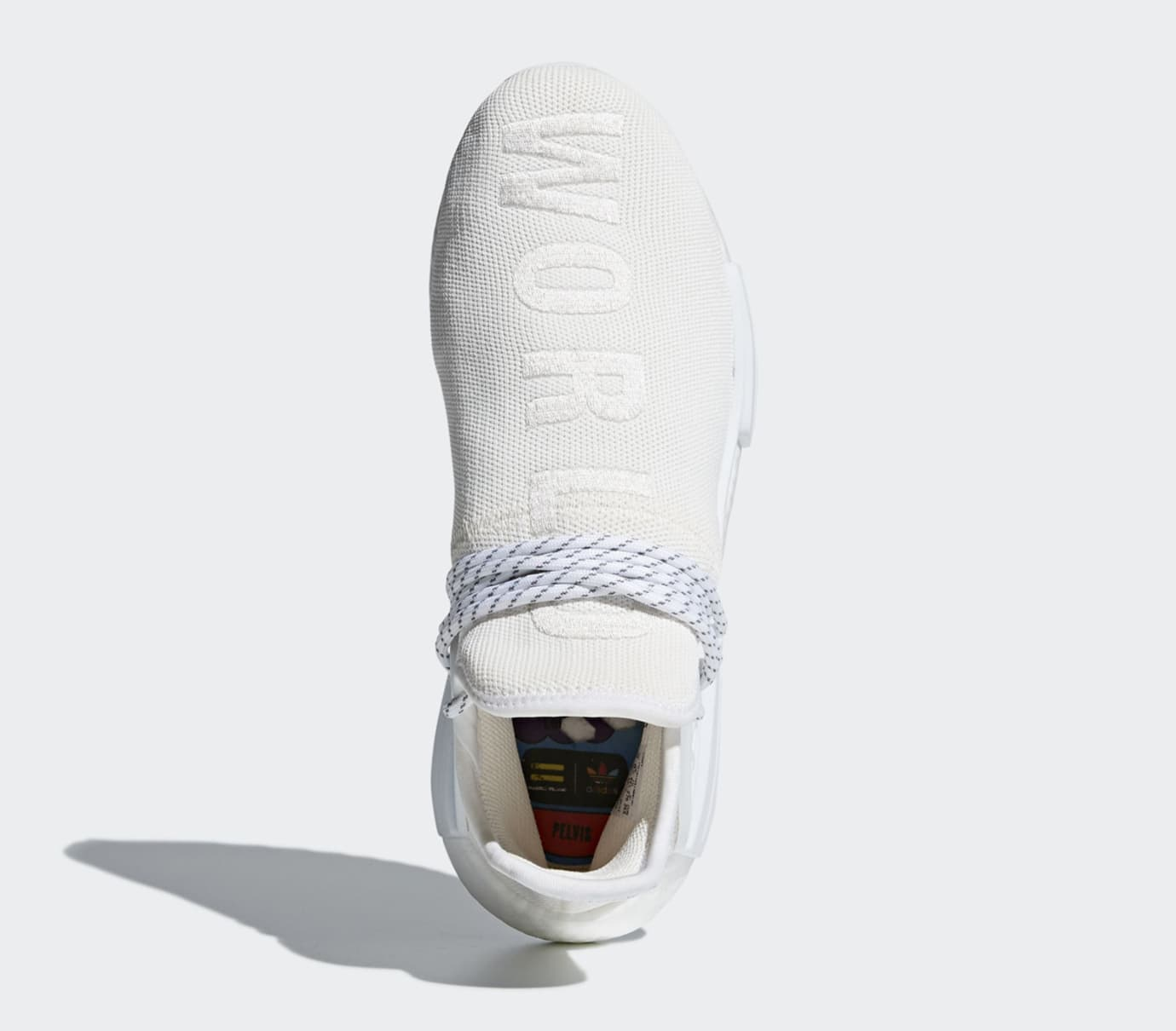 37017d969 Image via Adidas Pharrell Adidas NMD Hu Trail Blank Canvas AC7031 White Top
