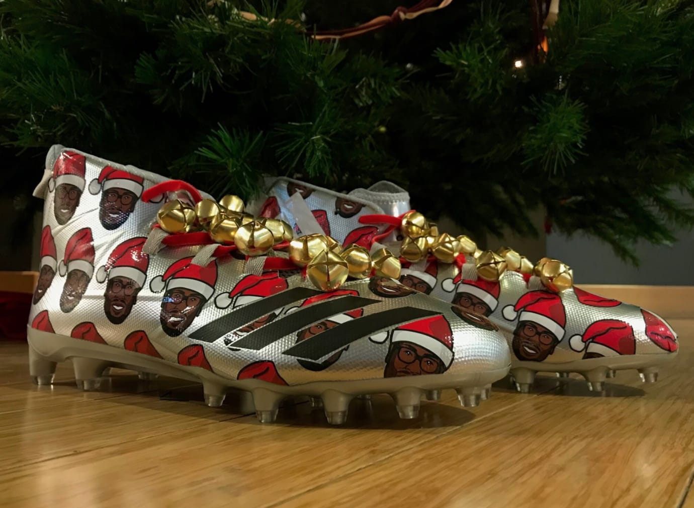 Von Miller Adidas Freak Christmas Cleats