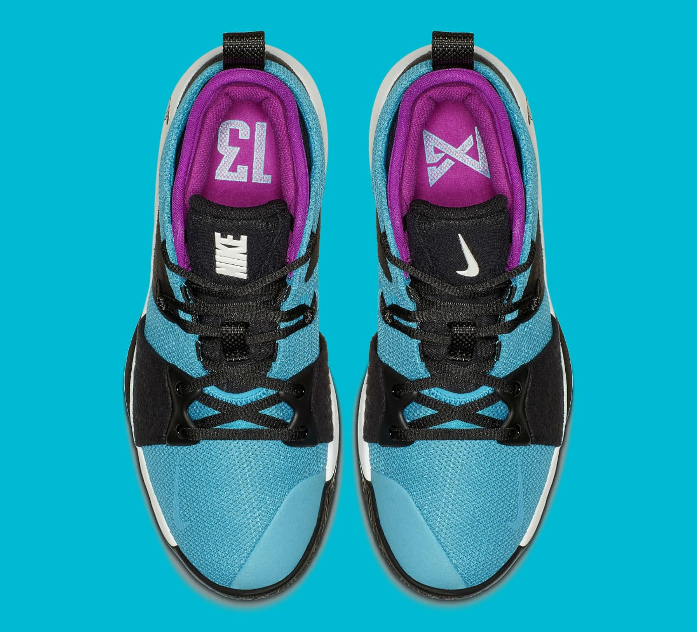6b74379a387 Image via Nike Nike PG 2 South Beach Blue Lagoon Release Date AJ2039-402 Top
