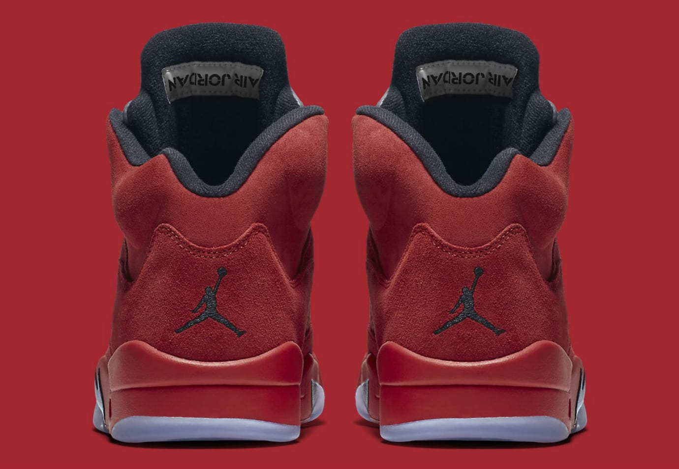 Air Jordan 5 Red Suede Release Date Heel 136027-602