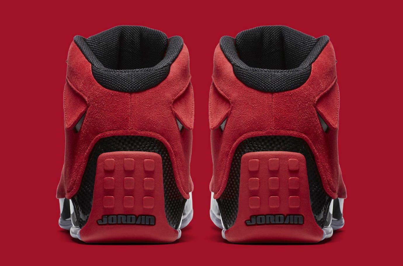 6f32553649cf Air Jordan 18 XVIII Toro Gym Red Release Date AA2494-601 Heel