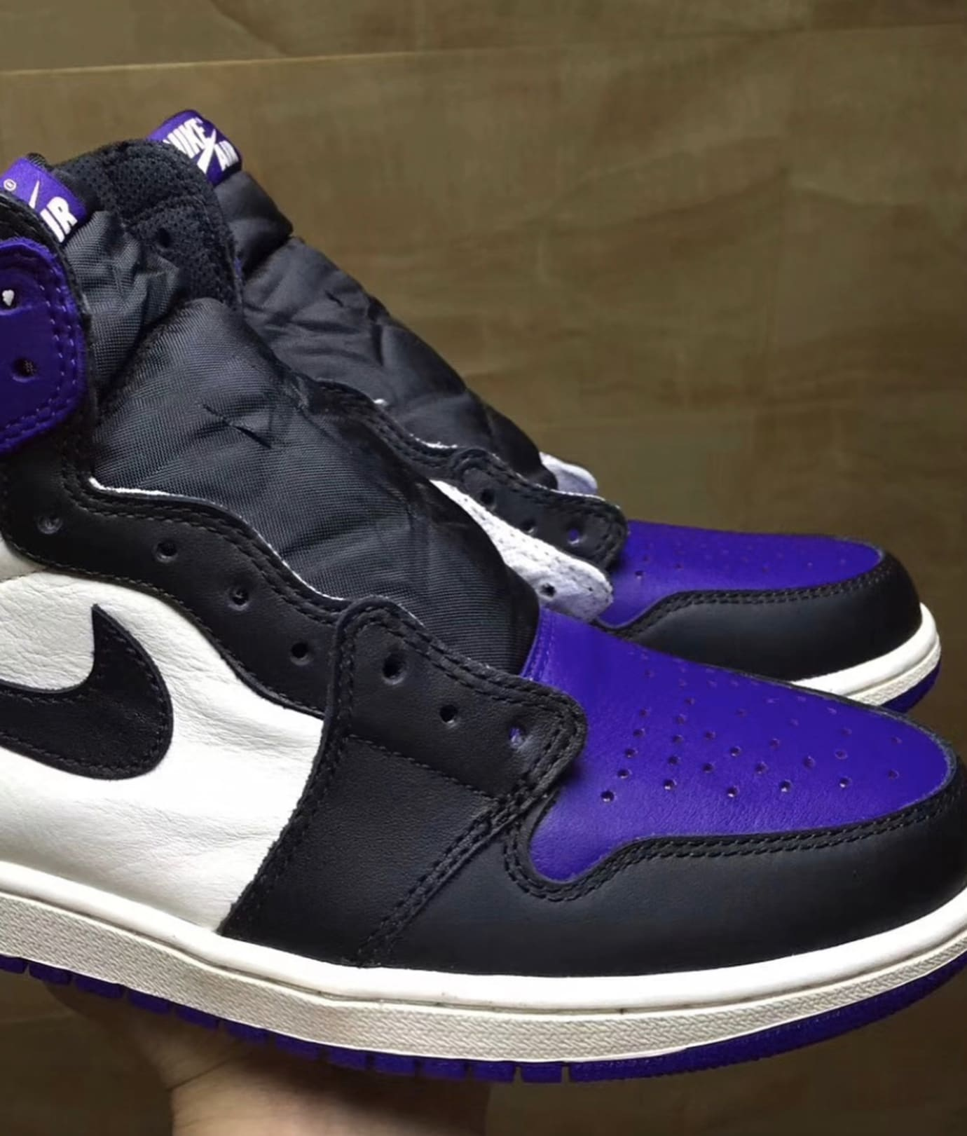 623f013393bf0c ... official image via 23talk air jordan 1 court purple 3 0315e 6c932
