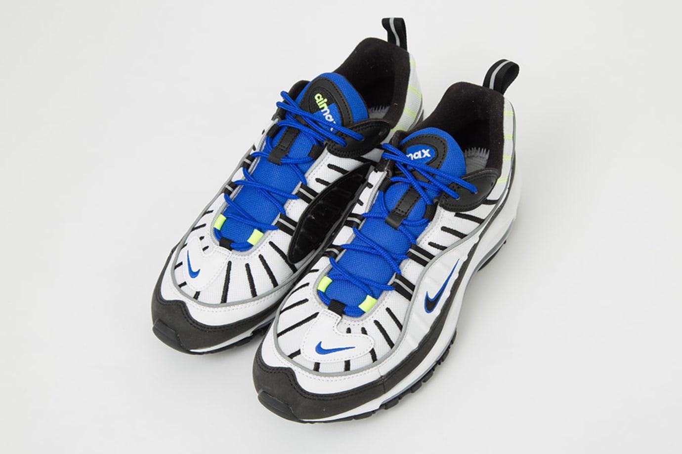 Nike Air Max 98 'White/Black/Racer Blue/Volt' 640744-103 (Pair)