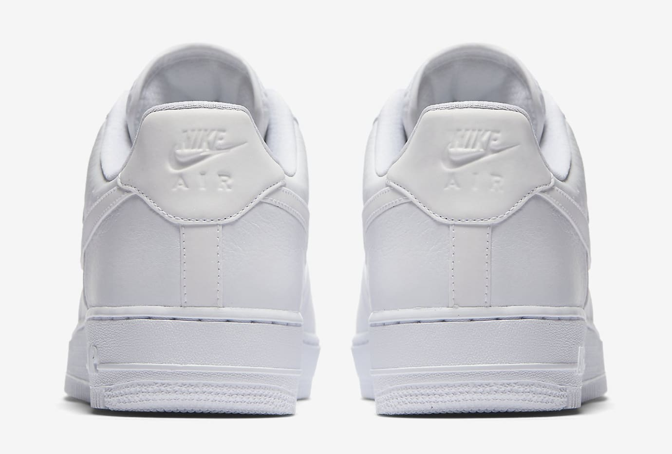 Nike Air Force 1 White Reflective 905345-100 Heel