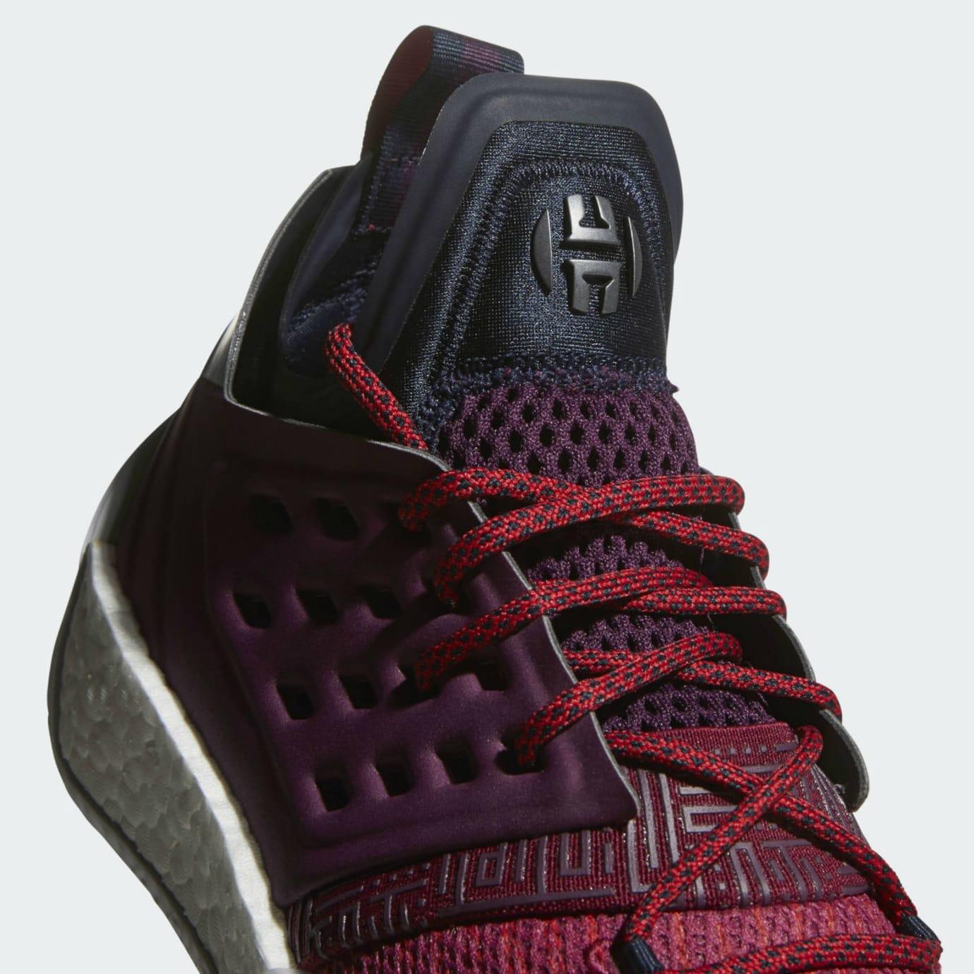 Adidas Harden Vol. 2 Maroon Release Date AH2124 Tongue