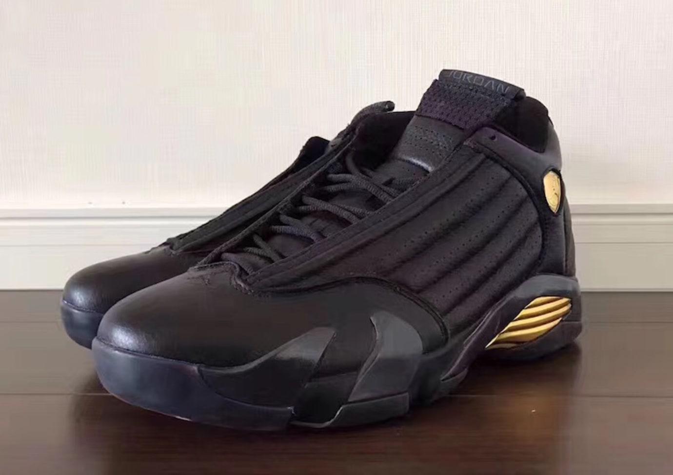 pretty nice fd96e e61a1 Air Jordan 14 Defining Moments Black Gold Release Date 487471-022 (2)