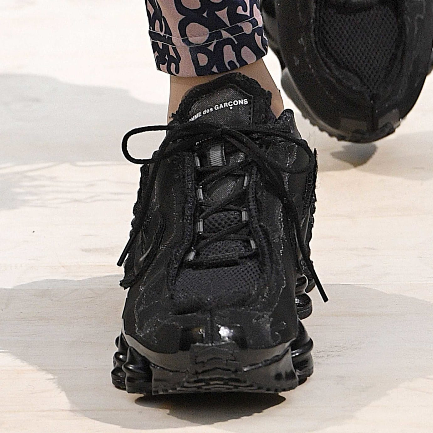 Comme des Garcons x Nike Shox Black Front No Jewelry
