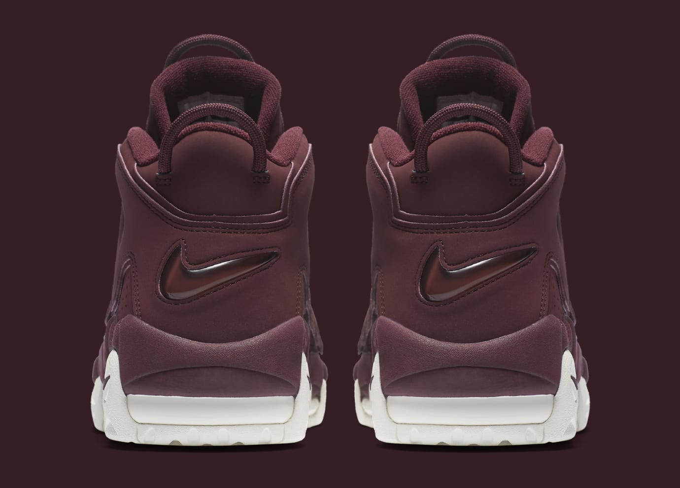 best website 6111f 0069a Image via Nike Bordeaux Nike Air More Uptempo 912949-600 Heel