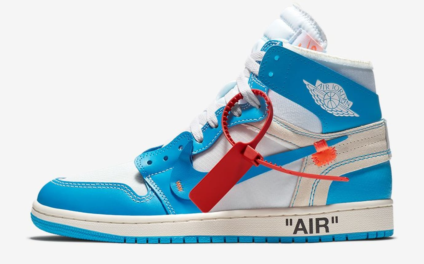 Off-White x Air Jordan 1 UNC Release Date AQ0818-148 Profile