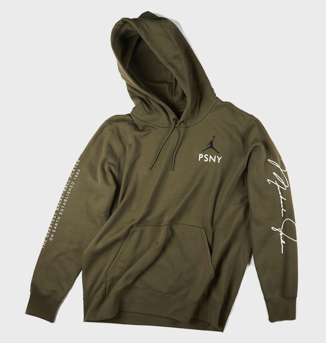PSNY x Air Jordan 15 Olive Hoodie Release Date