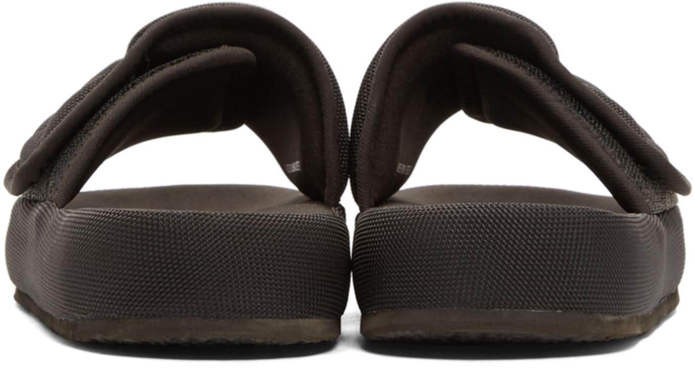 Yeezy Brown Fabric Slides (Heel)