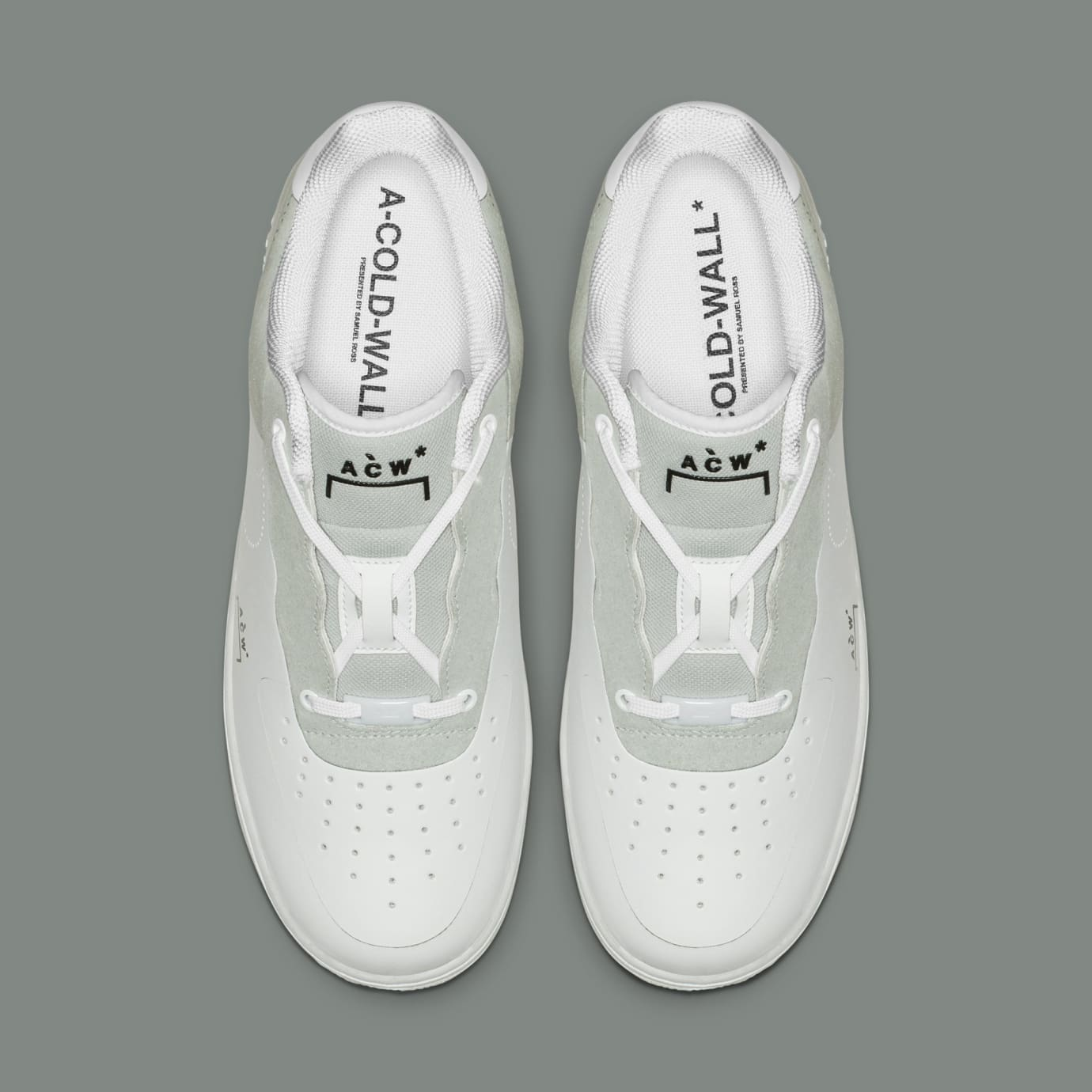 A-Cold-Wall* x Nike Air Force 1 Low 'White/Light Grey-Black' BQ6924-100 (Top)