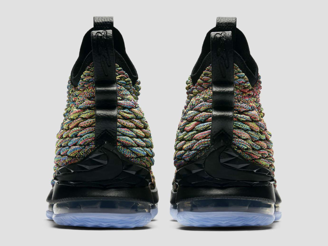 ab1a1f0ca035bf Nike LeBron 15 XV Four Horsemen Black Fruity Pebbles Release Date 897648-901  Heel