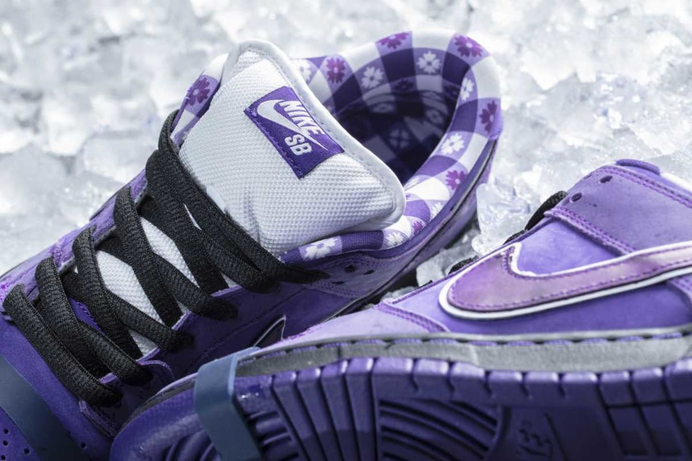 87164d8e090c Image via CNCPTS Concepts x Nike SB Dunk Low Purple Lobster Release Date  Lining