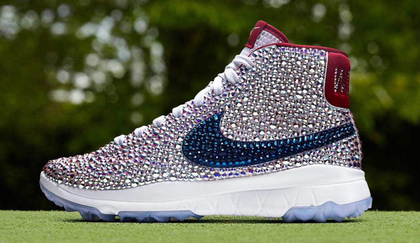 Michelle Wie Swarovski Crystal Nike Blazer Golf Shoes Profile