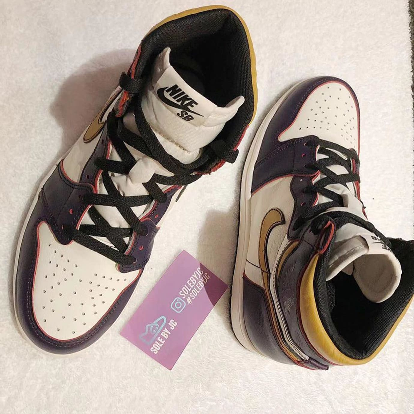 separation shoes 8bd01 c8e14 Image via solebyjc · Nike SB x Air Jordan 1 Lakers CD6578-507 1