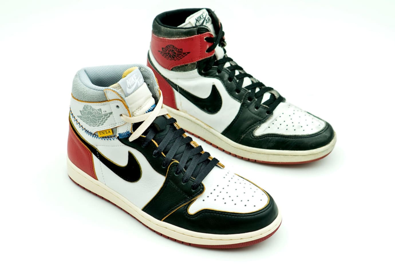 Union x Air Jordan 1 Comparison (vs. ''Black Toe' Lateral)