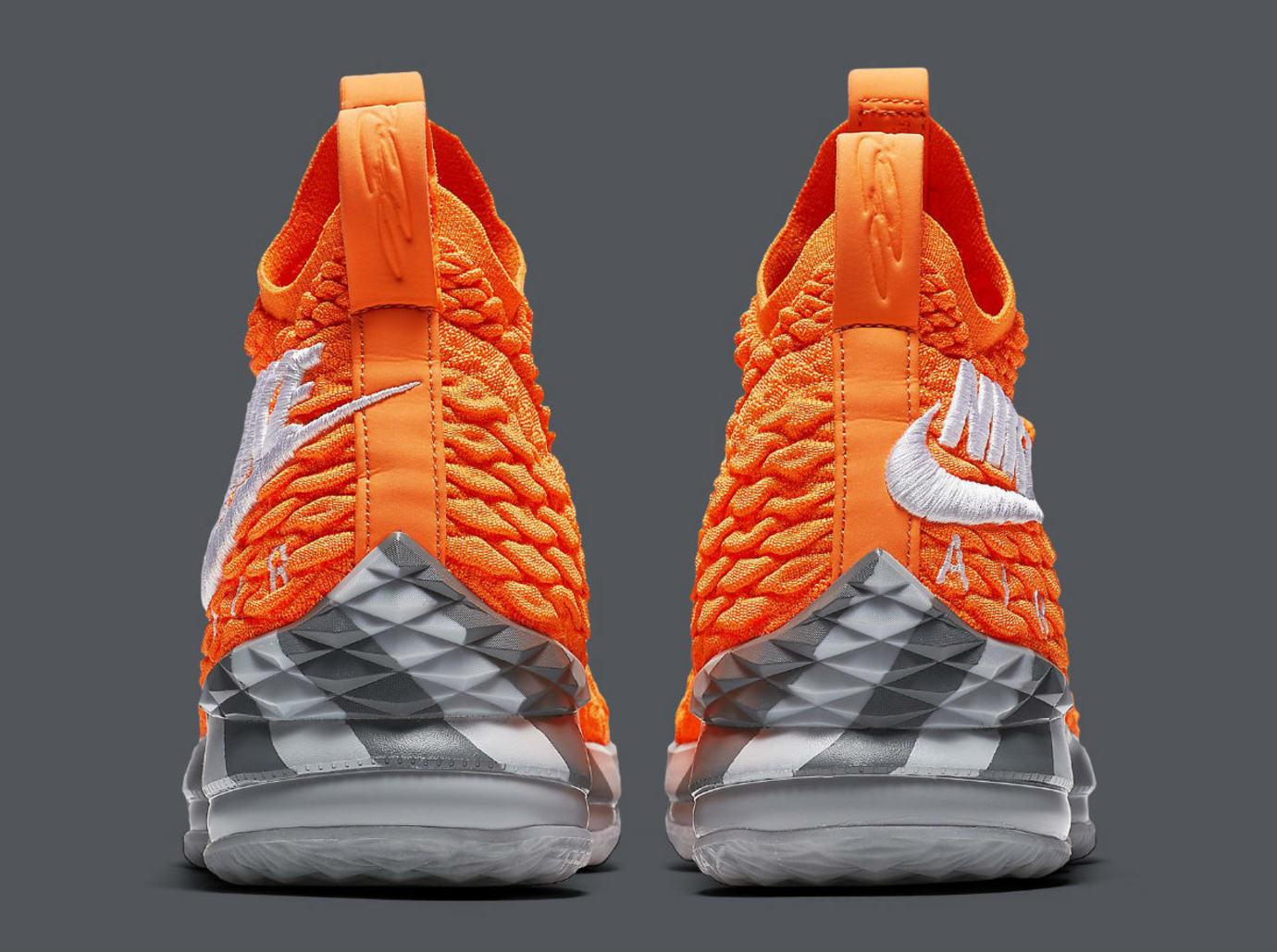 c2dee2913a6 Nike LeBron 15 Orange Box Release Date AR5125-800 Heel