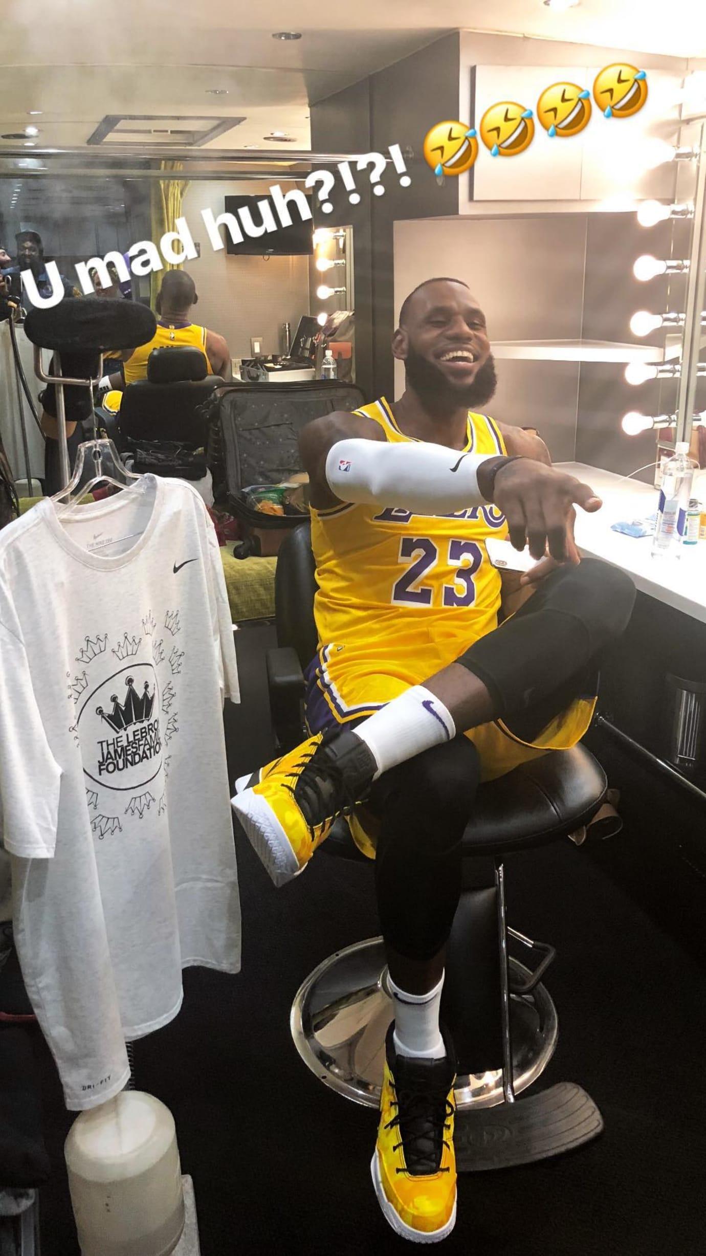 LeBron James UNDFTD x Nike Zoom Kobe 1 Protro Lakers PE