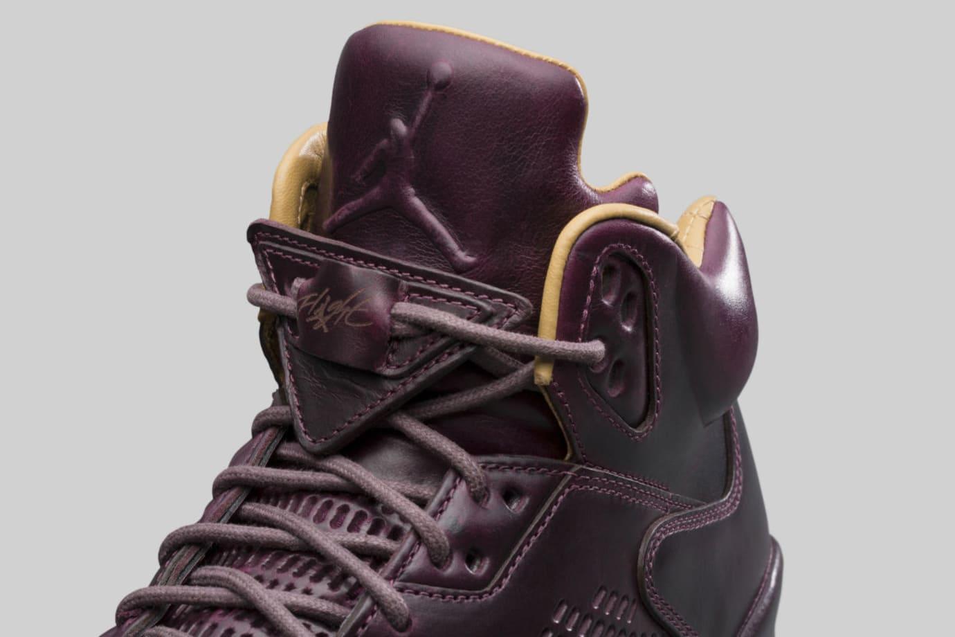 Air Jordan 5 Premium Bordeaux Release Date Tongue 881432-612