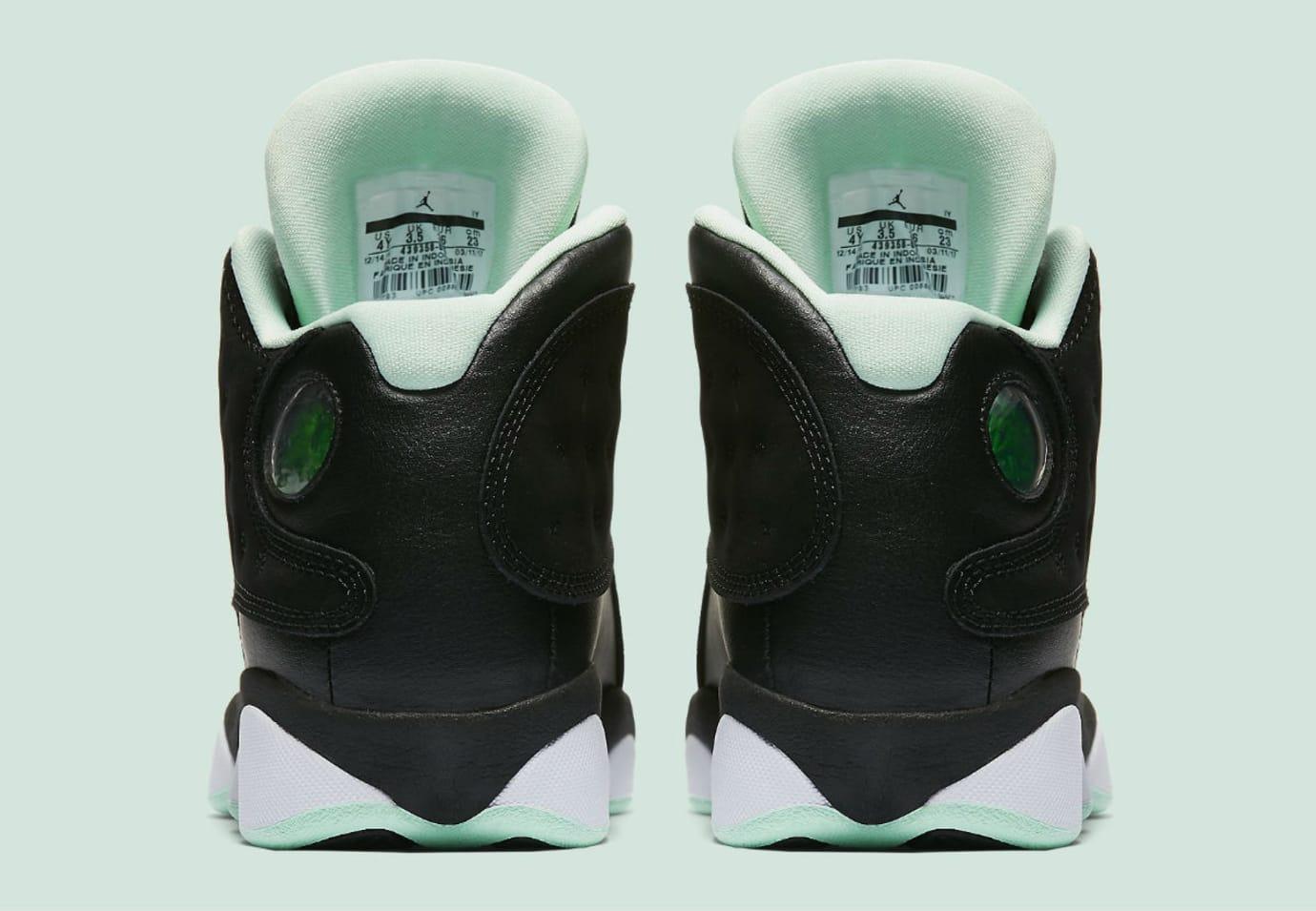 the best attitude 178ef 406c8 Air Jordan 13 Mint Foam Release Date Heel 439358-015