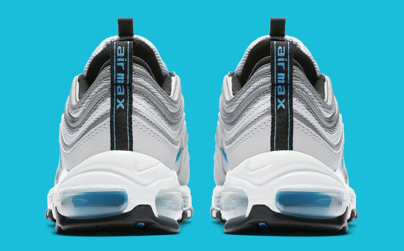 Womens Nike Air Max 97 Silver Blue 917647-001 Heel