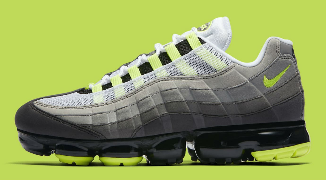 Nike Air VaporMax 95 Black Volt Medium Ash Dark Pewter Dusk