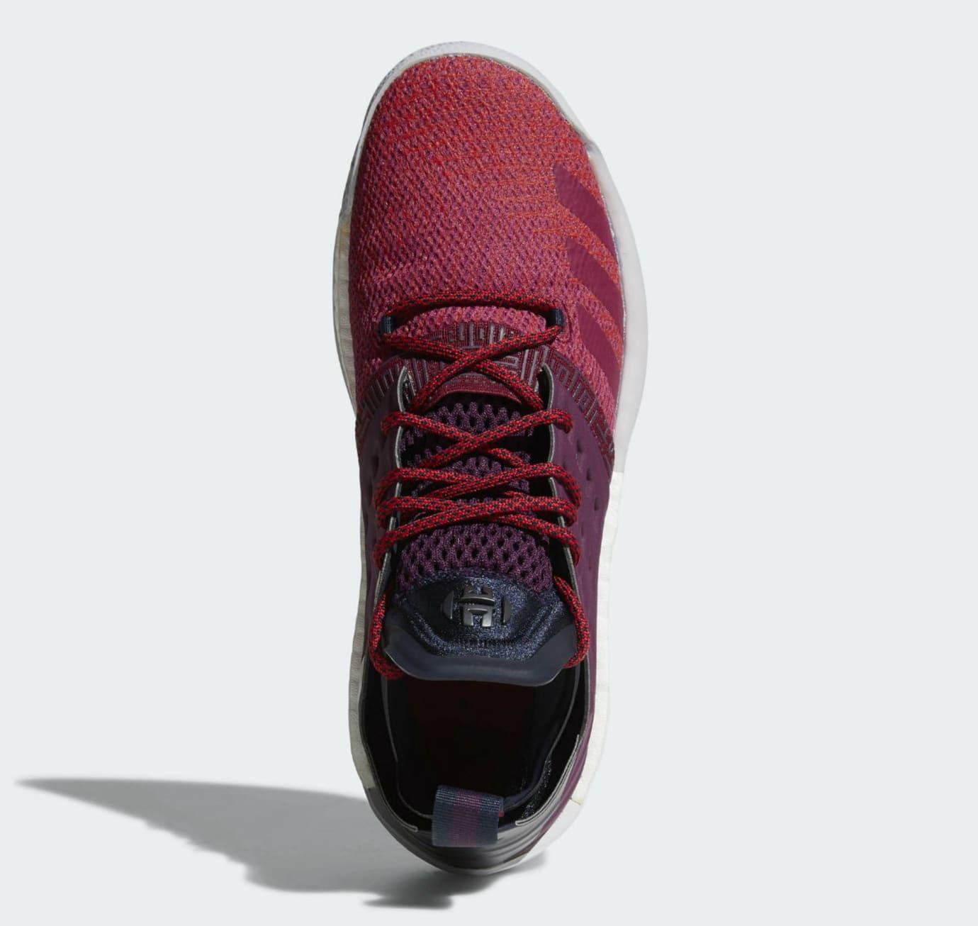 Adidas Harden Vol. 2 Maroon Release Date AH2124 Top