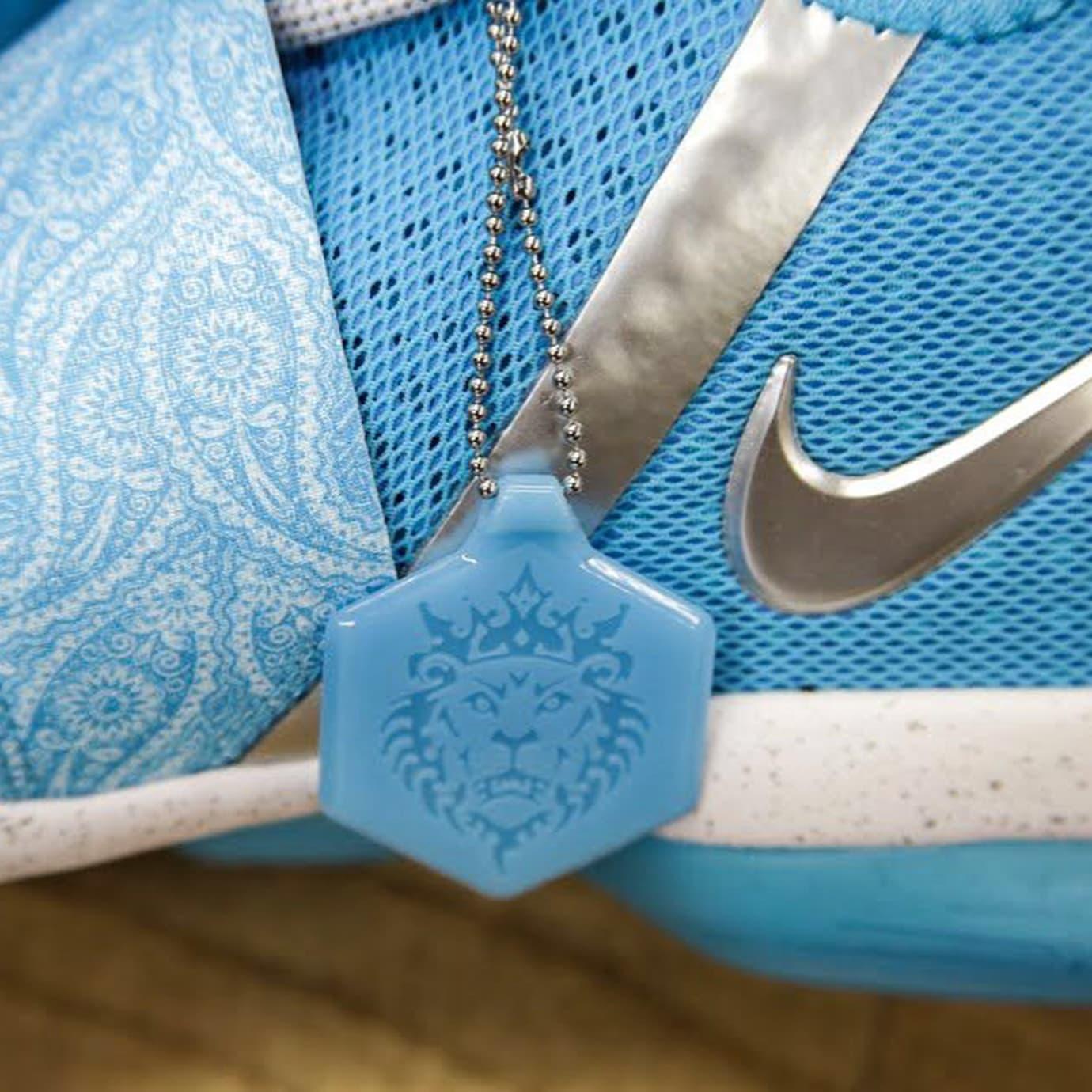 Nike LeBron 14 Blue White Release Date Medial AA3258-404