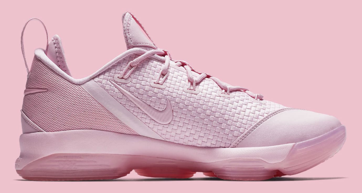 Nike LeBron 14 Low Pink Release Date Medial 878635-600