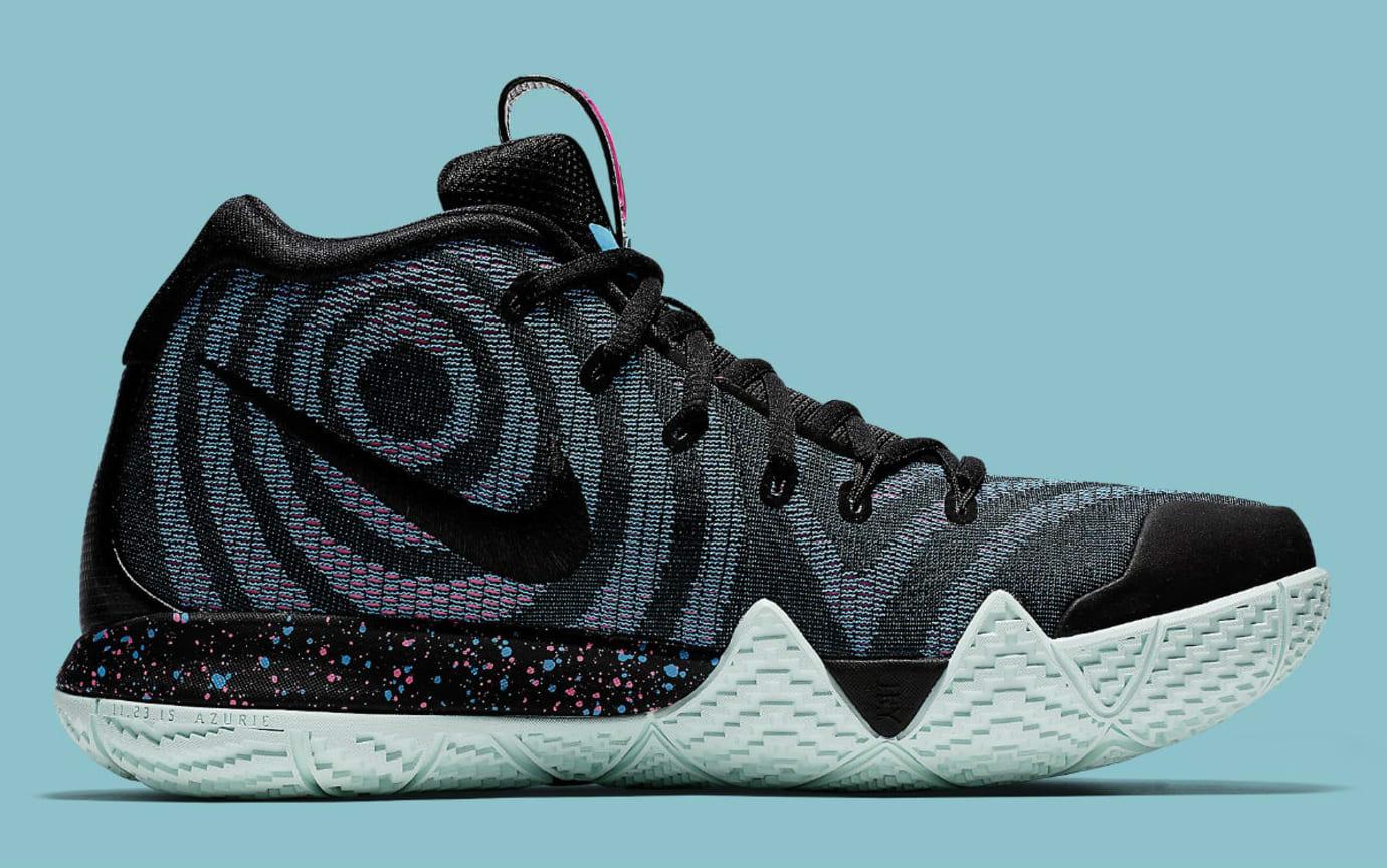 50d0eb5f3cda Image via Nike Nike Kyrie 4 Black Laser Fuchsia Release Date 943807-007  Medial