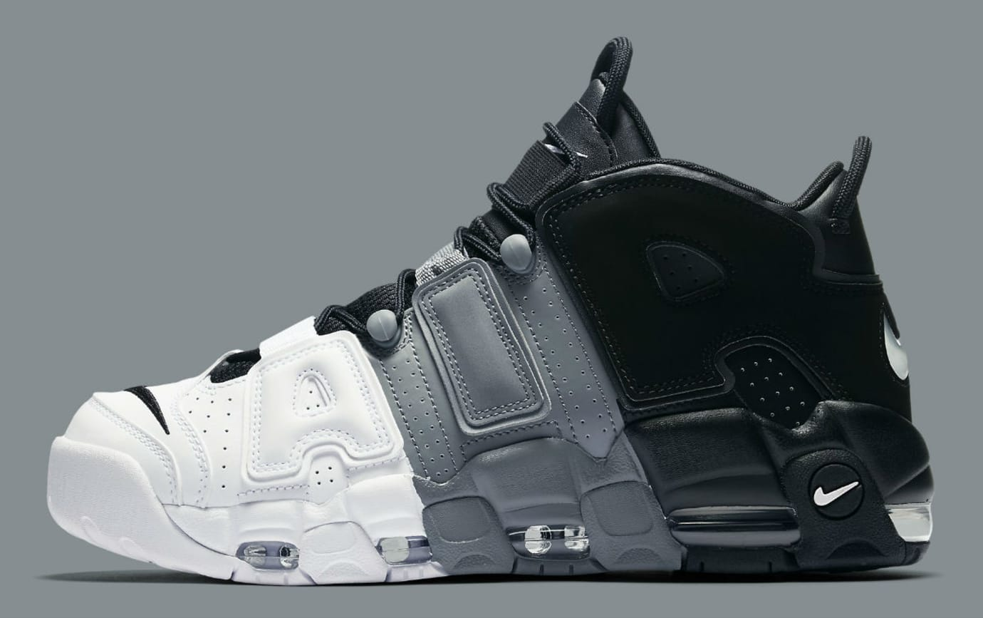 triste La risa Acostumbrados a  Nike Air More Uptempo Tri-Color Black Grey White Release Date 921948 002 |  Sole Collector