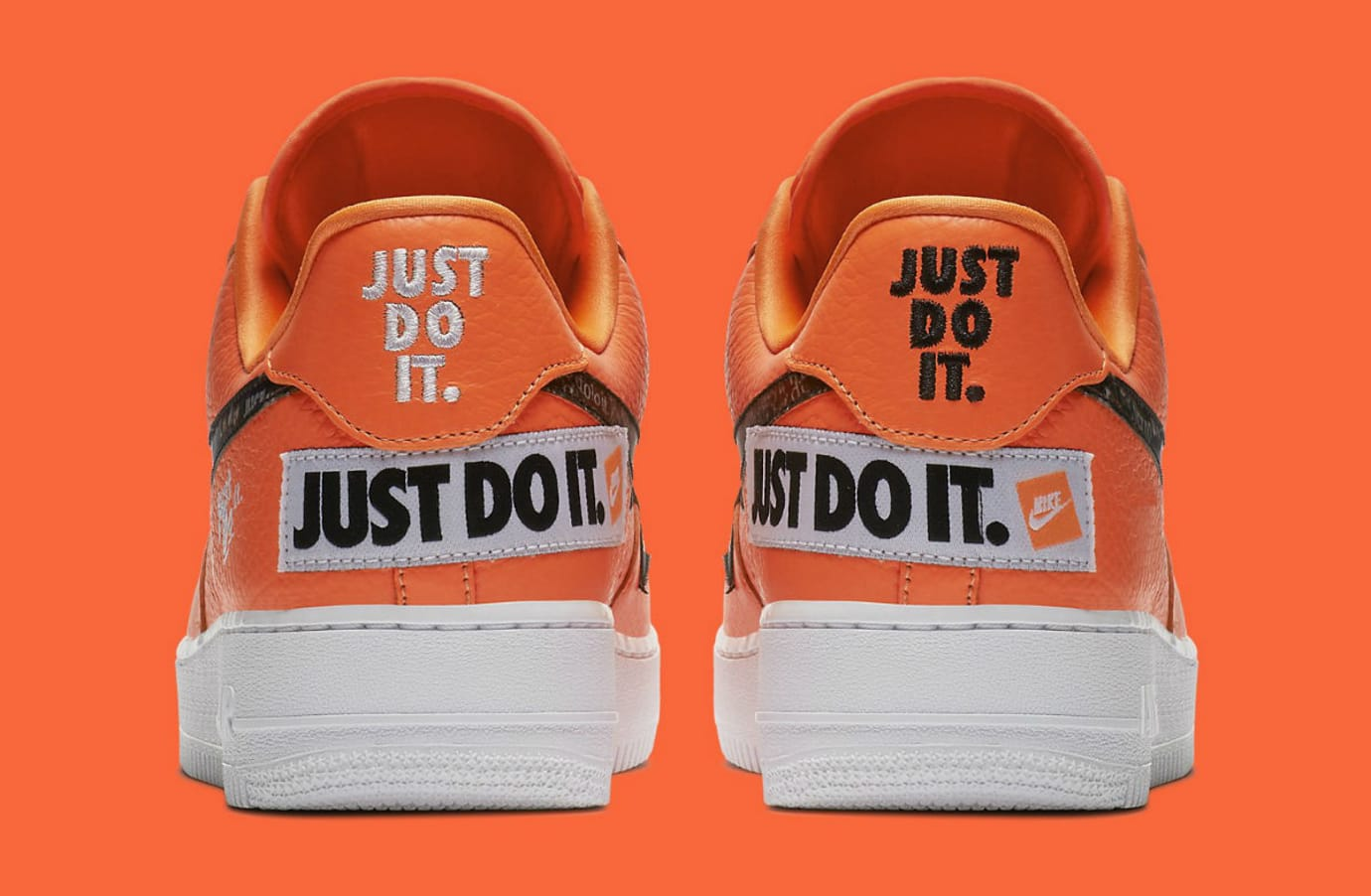 Nike Air Force 1 Low Just Do It Orange Release Date AR7719-800 Heel